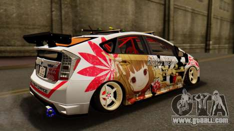 Toyota Prius JDM 2011 Itasha for GTA San Andreas back left view
