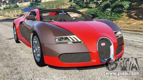 Bugatti Veyron Grand Sport for GTA 5