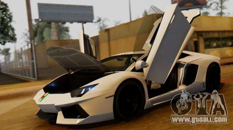 Lamborghini Aventador LP 700-4 2012 for GTA San Andreas right view
