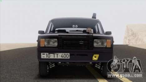 VAZ 2107 Avtosh Style for GTA San Andreas back left view