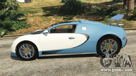 GTA 5 Bugatti Veyron Grand Sport v2.0 left side view