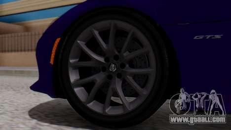Dodge Viper SRT GTS 2013 HQLM (HQ PJ) for GTA San Andreas back left view