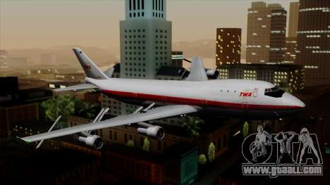 Boeing 747 TWA for GTA San Andreas