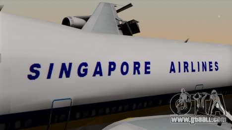 Boeing 747 Singapore (Old) for GTA San Andreas back view