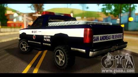 FDSA Brush Patrol Car for GTA San Andreas left view