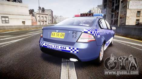 Ford Falcon FG XR6 Turbo NSW Police [ELS] for GTA 4 back left view
