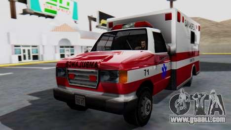 Ambulance with Lightbars for GTA San Andreas