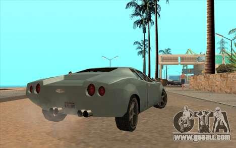 GTA VC Infernus SA Style for GTA San Andreas back view