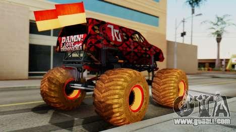 The Seventy Monster for GTA San Andreas left view