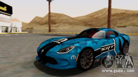 Dodge Viper SRT GTS 2013 HQLM (HQ PJ) for GTA San Andreas bottom view