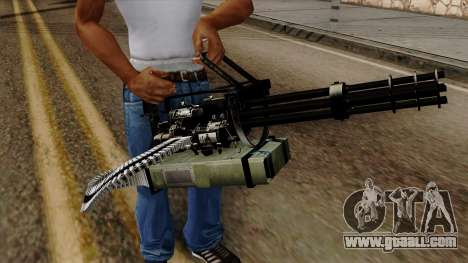Original HD Minigun for GTA San Andreas third screenshot