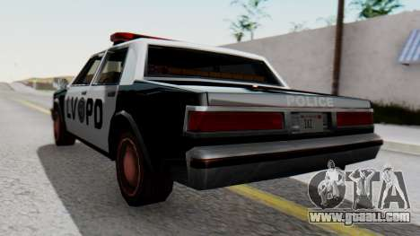 Police LV with Lightbars for GTA San Andreas left view