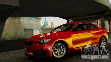 BMW M235i F22 Sport 2014 for GTA San Andreas back left view
