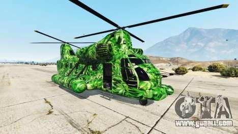Western Company Cargobob Cannabis for GTA 5