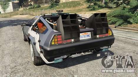 GTA 5 DeLorean DMC-12 Back To The Future v0.1 rear left side view