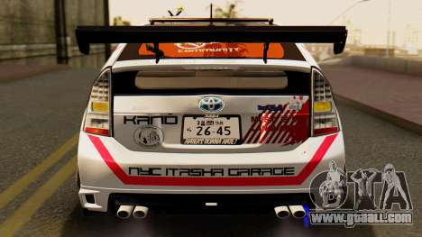 Toyota Prius JDM 2011 Itasha for GTA San Andreas upper view