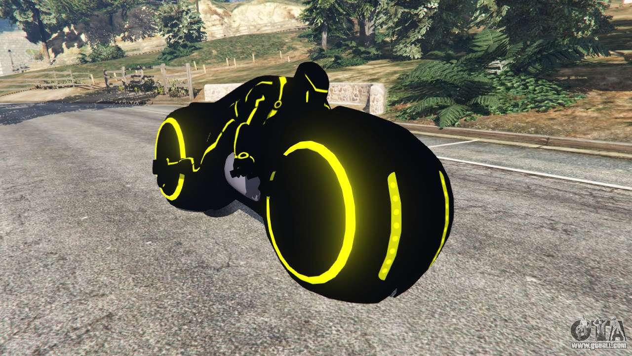 Tron Bike yellow for GTA 5