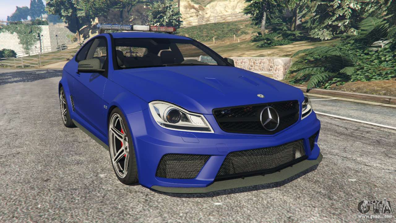 Mercedes benz c63 amg 2012 lcpd for gta 5 for Mercedes benz c63 amg