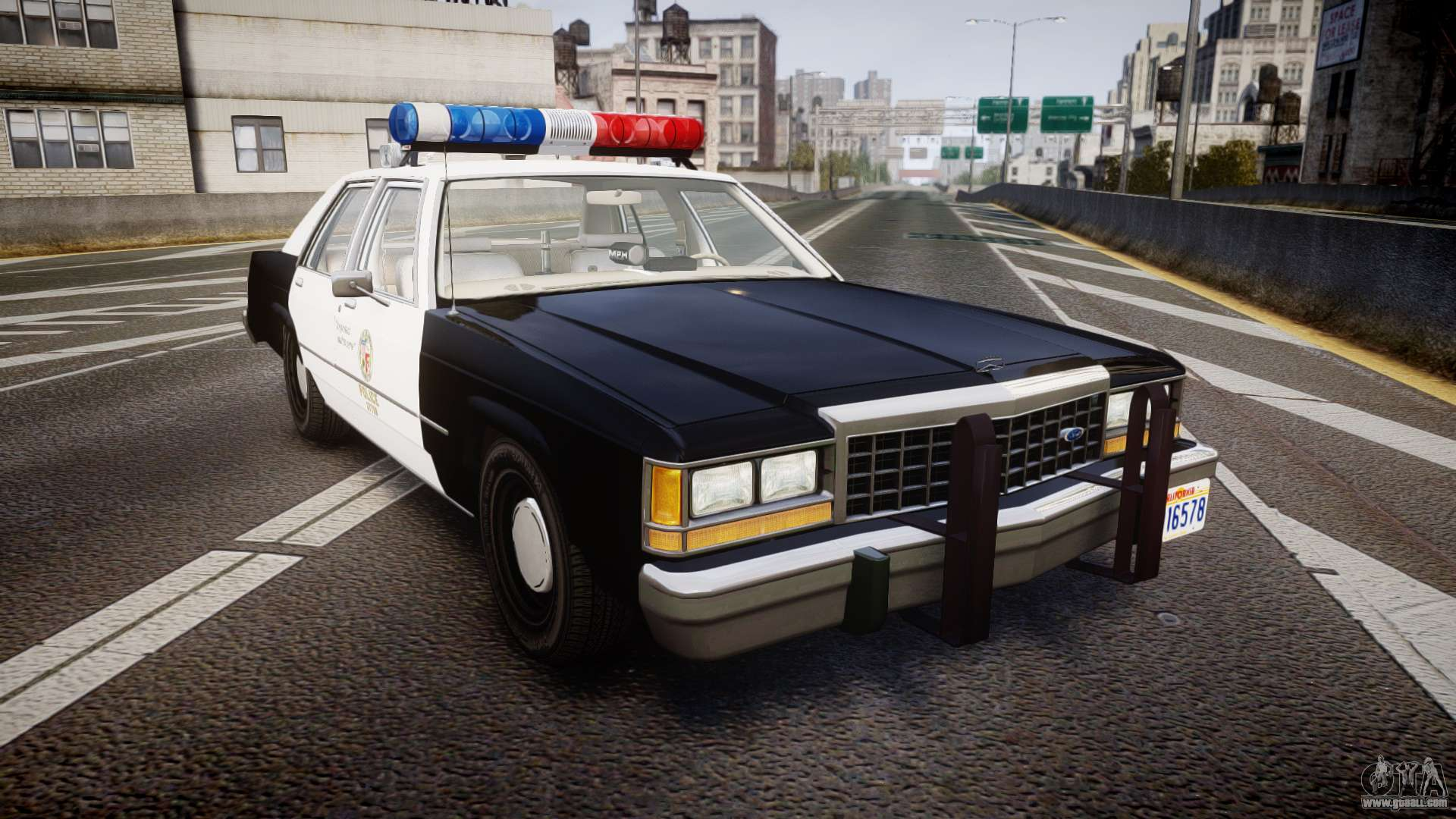 1987 Ford Crown Victoria Police Car 1980 Ltd Lapd Els For Gta 4
