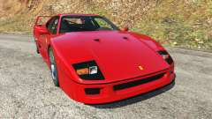 Ferrari F40 1987 v1.1 for GTA 5