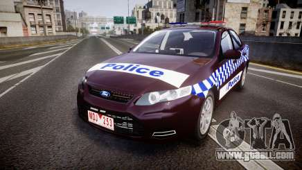 Ford Falcon FG XR6 Turbo NSW Police [ELS] v3.0 for GTA 4