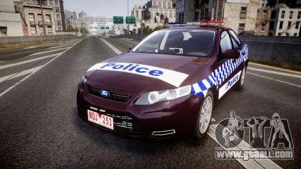 Ford Falcon FG XR6 Turbo NSW Police [ELS] v3.0 for GTA 4