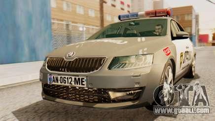 Skoda Octavia A7 Georgia Police for GTA San Andreas