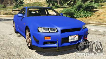 Nissan Skyline R34 GT-R 2002 v0.8 [Beta] for GTA 5