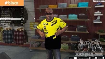 T-shirt for Natus Vincere Franklin for GTA 5