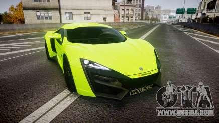 Lykan HyperSport 2014 [EPM] for GTA 4