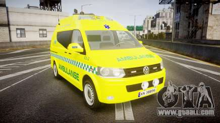 Volkswagen Transporter Norwegian Ambulance [ELS] for GTA 4