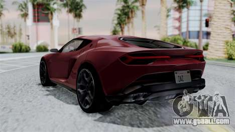 Lamborghini Asterion Concept 2015 v2 for GTA San Andreas left view
