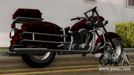 Classic Batik Motorcycle for GTA San Andreas left view