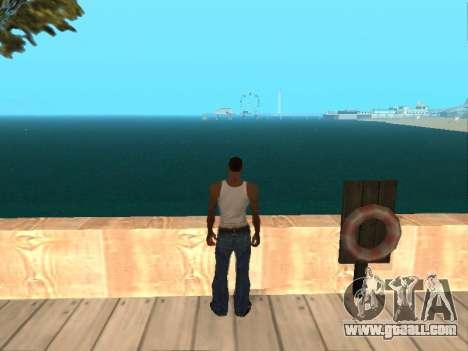 Dark green realistic water for GTA San Andreas forth screenshot
