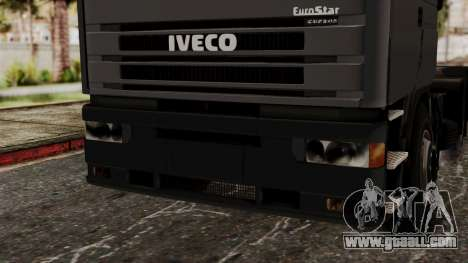 Iveco EuroStar Low Cab for GTA San Andreas inner view