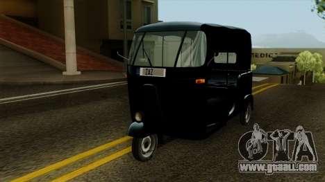Indian Auto Rickshaw Tuk-Tuk for GTA San Andreas right view