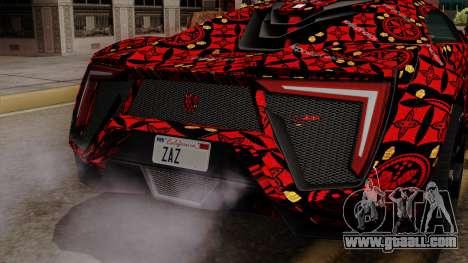 Lykan Hypersport Batik for GTA San Andreas back view