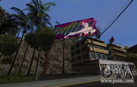 Candy Suxx billboard replacement for GTA San Andreas
