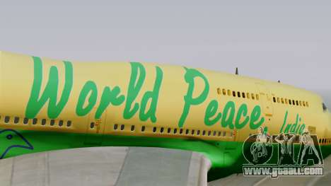 Boeing 747-400 World Peace for GTA San Andreas back view
