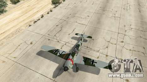 GTA 5 Messerschmitt BF-109 E3 v1.1 fourth screenshot