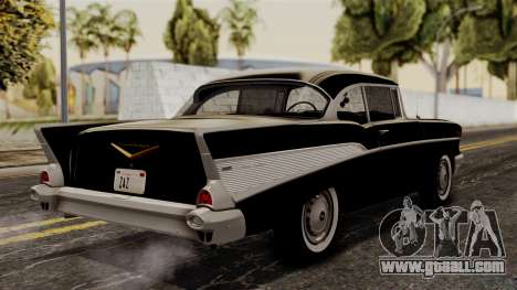 Chevrolet Bel Air Sport Coupe (2454) 1957 HQLM for GTA San Andreas left view