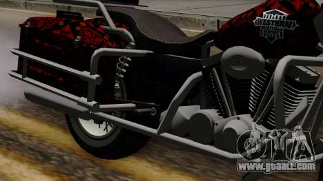 Classic Batik Motorcycle for GTA San Andreas back view