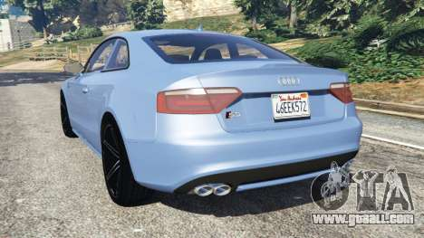 GTA 5 Audi S5 Coupe rear left side view