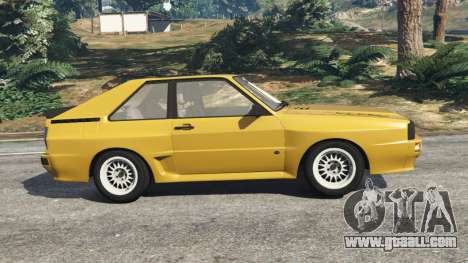 GTA 5 Audi Sport quattro left side view