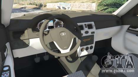 GTA 5 VAZ-2170 Lada Priora steering wheel