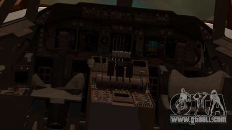 Boeing 747-100 American Airlines for GTA San Andreas inner view