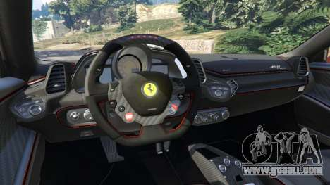GTA 5 Ferrari 458 Italia 2009 v1.3 right side view