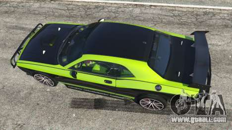 GTA 5 Dodge Challenger 2015 Shaker Furious 7 back view