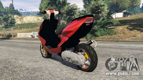 GTA 5 Yamaha Aerox rear left side view