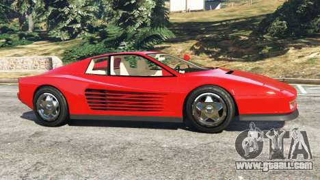 GTA 5 Ferrari Testarossa 1984 left side view
